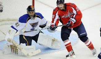 Capitals right wing Troy Brouwer ended a 14-game scoreless streak Tuesday with two goals in Washington's 3-2 win over the New York Islanders. (Associated press)