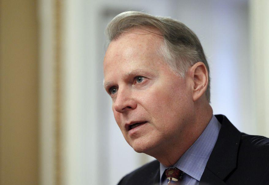 ** FILE ** Rep. David Dreier, California Republican, takes part in a hearing on Capitol Hill in Washington in July 2011. (AP Photo/J. Scott Applewhite, File)