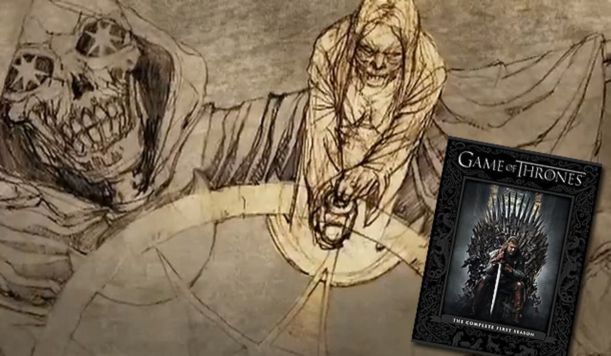 An interactive guide features animated illustrations exploring the culture of Westeros in Game of Thrones: The Complete First Season for Blu-ray. (Courtesy HBO Home Video)