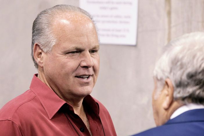 Talk-radio host Rush Limbaugh.