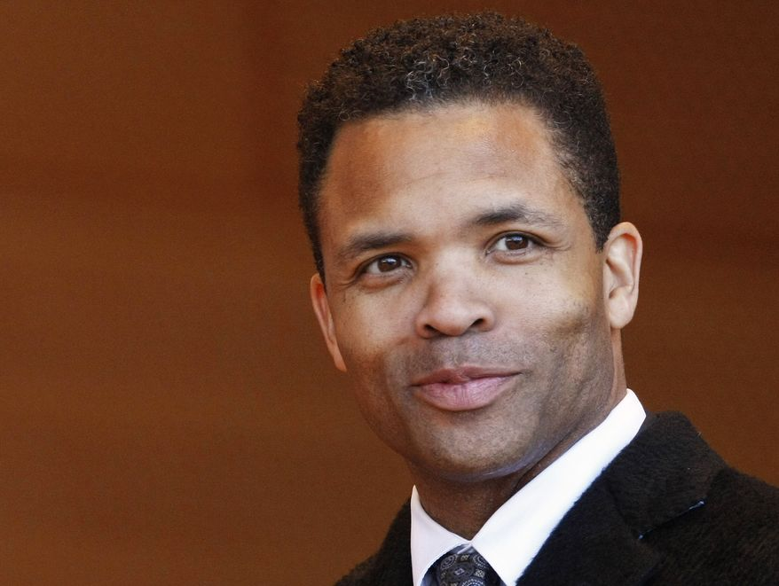 ** FILE ** This May 16, 2011 file photo shows U.S. Rep. Jesse Jackson Jr. in Chicago. Jackson faces a Democratic challenge from former one-term congressman and state legislator, Debbie Halvorson in Illinois' 2nd Congressional District in the March 20 primary. (AP Photo/Charles Rex Arbogast, File)