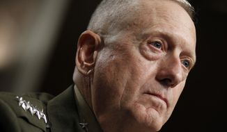 **FILE** Marine Corps Gen. James Mattis testifies July 10, 2010, on Capitol Hill before the Senate Armed Services Committee. (Associated Press)