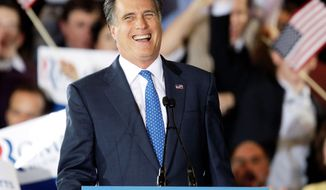 Mitt Romney was all smiles on Super Tuesday, when he racked up several key victories over Rick Santorum. (Associated Press)