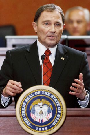 Utah Gov. Gary Herbert is expected to sign a legislation calling for the federal government to transfer control of federal lands to the state. (Salt Lake Tribune via Associated Press)