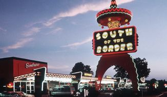 **FILE** A neon sign greets visitors to South of the Border, a resort in Dillon, S.C., near the North Carolina-South Carolina line, in this undated publicity photo. (Associated Press)