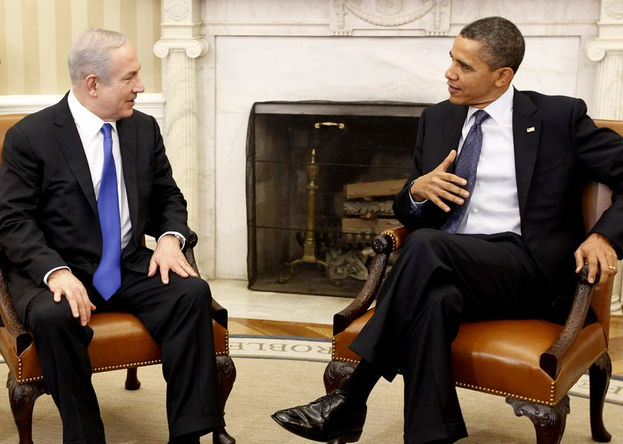 President Obama meets March 5, 2012, with Israeli Prime Minister Benjamin Netanyahu at the White House. (Associated Press)