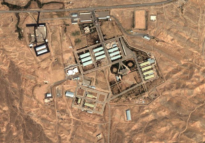 **FILE** This satellite image shows the military complex at Parchin, Iran, 30 km (about 19 miles) southeast of Tehran on Aug. 13, 2004. (Associated Press/DigitalGlobe/Institute for Science and International Security)