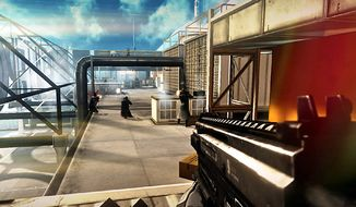 Agents attack in the mature video game Syndicate.