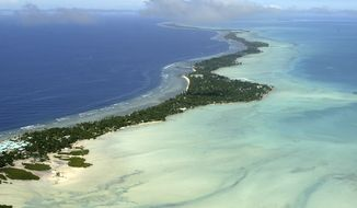 **FILE** Tarawa atoll, Kiribati, is seen in an aerial view on March 30, 2004. (Associated Press)
