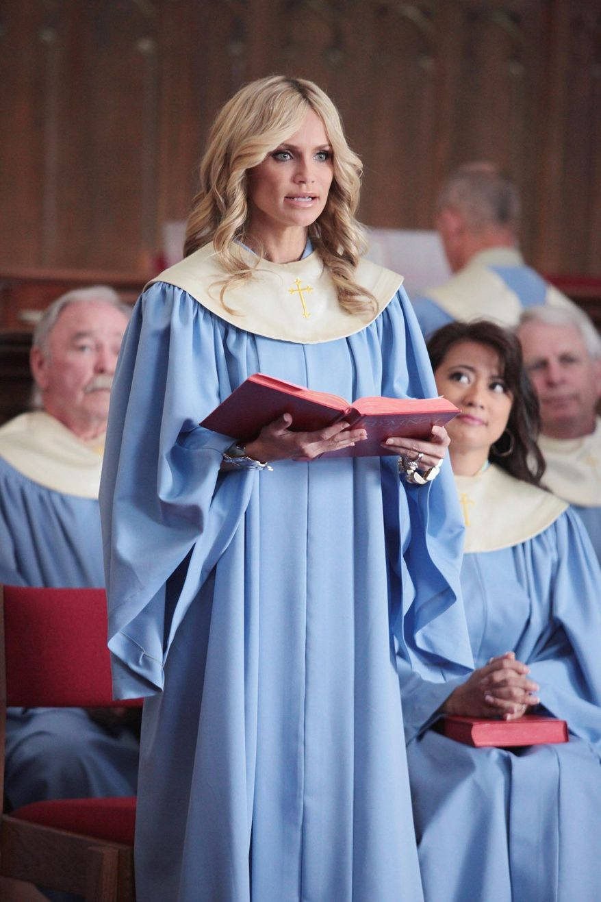 "Kristin Chenoweth appears in ""GCB,"" which has been criticized by former House Speaker Newt Gingrich. Mr. Gingrich cited an anti-Christian bias. (Photo courtesy ABC)"