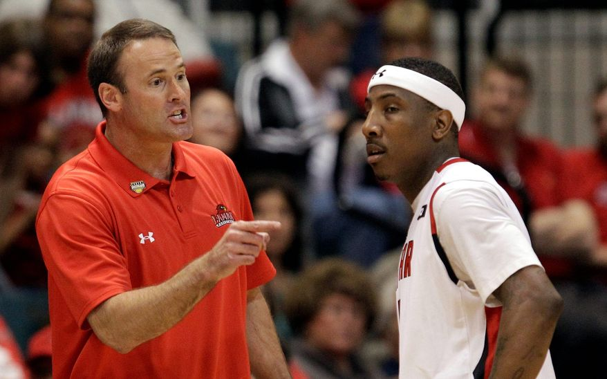 Lamar's Pat Knight, son of the legendary Bob Knight, is one of a handful of first-year coaches in this year's tournament. Knight's Cardinals won the Southland Conference tournament title. (Associated Press)