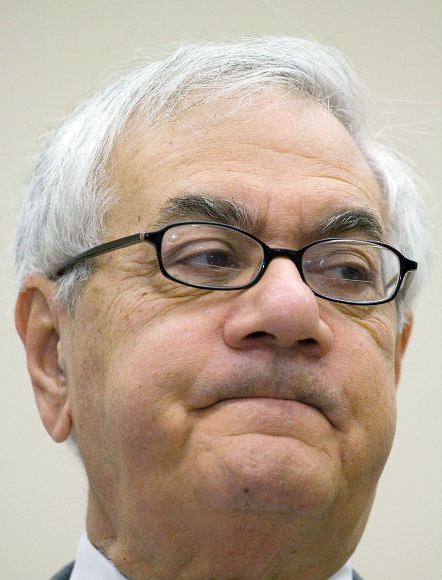 Rep. Barney Frank of Massachusetts, ranking Democrat on the House Financial Services Committee, got worked up over who deserves credit for a bill that assists community banks.(Associated Press)