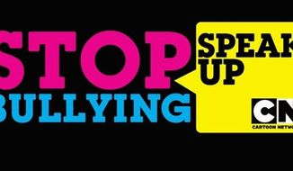 "Logo for the Cartoon Network's ""Stop Bullying: Speak Up"" initiative, for which President Obama will deliver a message."