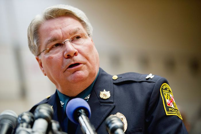"University of Maryland Police Chief David Mitchell says Alexander Song's threats were ""credible"" though no weapons were found in his dorm room or family home. (Andrew Harnik/The Washington Times)"