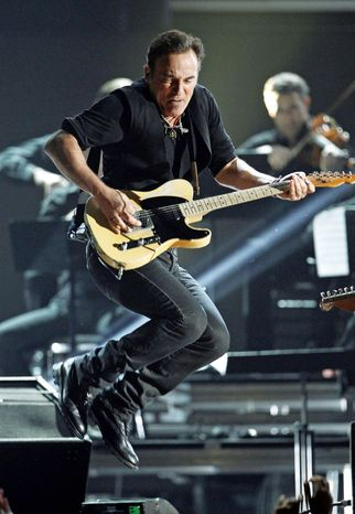 """Bruce Springsteen served as South by Southwest's keynote speaker. He also performed to promote his latest album, """"Wrecking Ball,"""" released earlier this month. (Associated Press)"""
