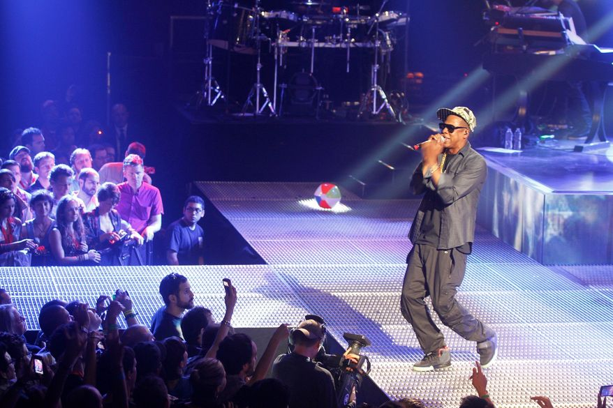 Jay-Z kicked off the South by Southwest festival in Austin, Texas, this week with a hit-filled, 80-minute performance at the AMEX Sync Show on Monday night. (Associated Press)