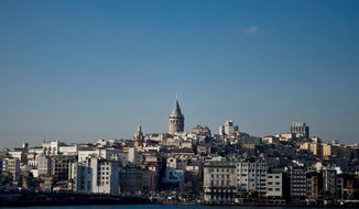 The skyline of Istanbul, Turkey's largest city, rises above the Bosporus. (AP Photo)