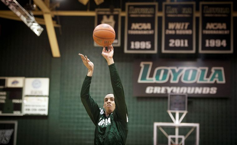Loyola forward Erik Etherly averaged 13.5 points and 7.5 rebounds in being named first-team All-Metro Atlantic Athletic Conference. (Rod Lamkey Jr./The Washington Times)