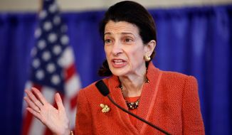 ** FILE ** Former Sen. Olympia J. Snowe, Maine Republican. (Associated Press)