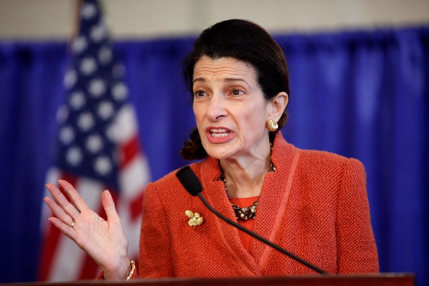 ** FILE ** Former Sen. Olympia J. Snowe, Maine Republican. (Associated Press)