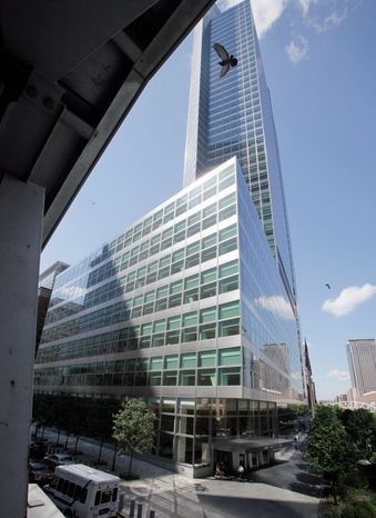 **FILE** The headquarters of Goldman Sachs in New York City (Associated Press)
