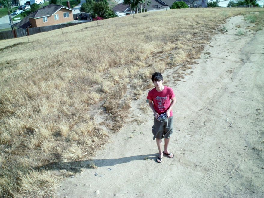Jordi Munoz is seen in a picture taken from a drone he made himself. (Courtesy of Jordi Munoz)