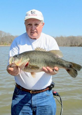 Dale Knupp of La Plata, Md., starts the bass parade with a 7-pounder from Mattawoman Creek. (Nancy Knupp)