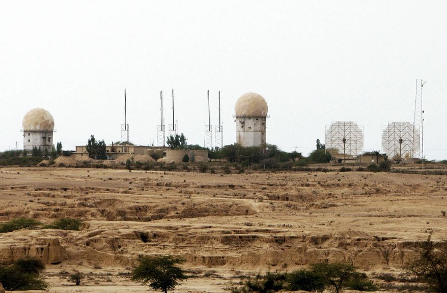 Radar facilities abound at a nuclear power plant in Bushehr, Iran. (Associated Press)