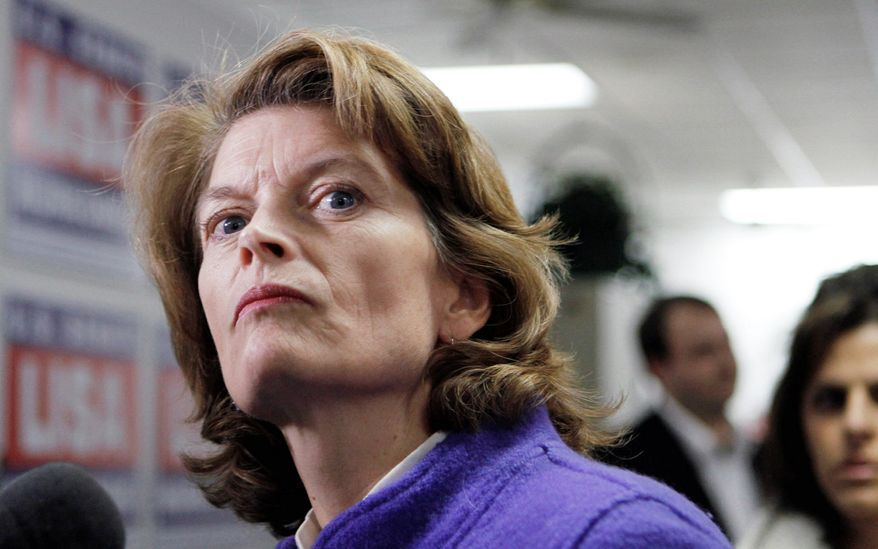 """""""[W]e have a problem here,"""" Sen. Lisa Murkowski, Alaska Republican, says at a hearing about the Obama administration's record on energy production. (Associated Press)"""