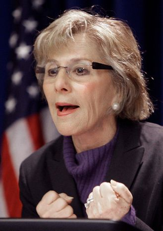 Sen. Barbara Boxer, California Democrat, co-wrote the transportation bill that was passed by the Senate on Wednesday by a 74-22 vote. (Associated Press)
