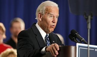 ** FILE ** Vice President Joe Biden speaks at a union hall in Toledo, Ohio, Thursday March 15, 2012. (AP Photo/Madalyn Ruggiero)