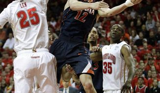 Virginia sophomore guard Joe Harris is second on the team in scoring with 11.5 points per game. (Associated Press)
