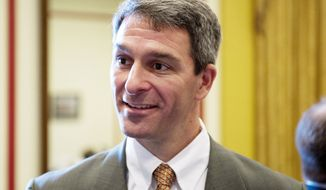 Virginia Attorney General Kenneth T. Cuccinelli II refused to say for whom he voted in the March 6 Virginia GOP presidential primary. (Rod Lamkey Jr./The Washington Times)