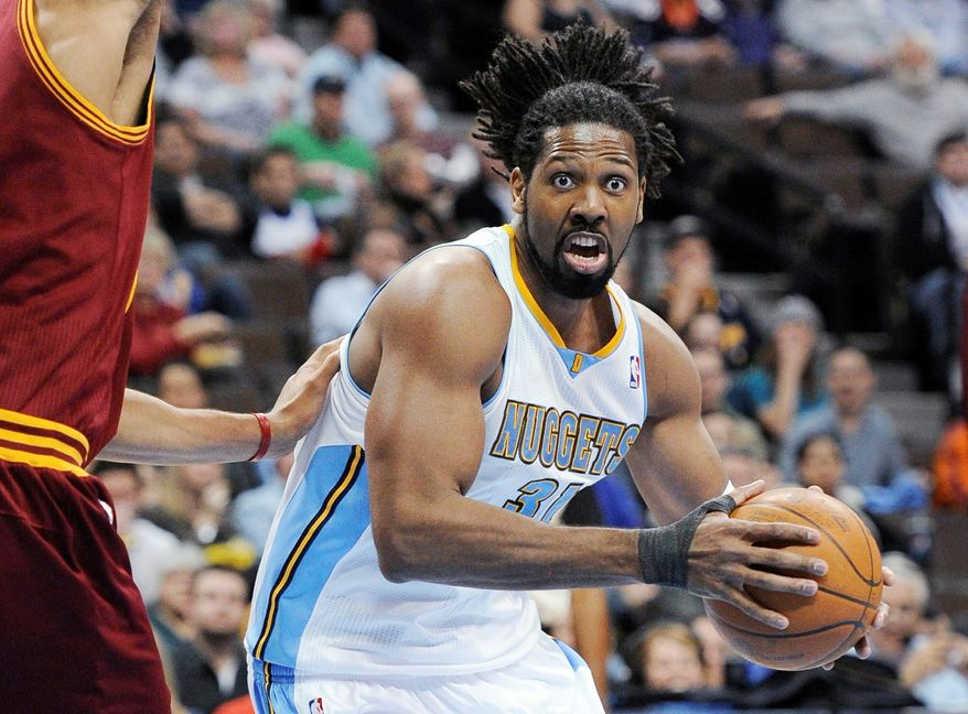 The Washington Wizards acquired center Nene from the Denver Nuggets for JaVale McGee and forward-center Ronny Turiaf. (Associated Press)