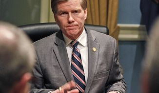 Virginia Gov. Bob McDonnell vetoed seven bills and offered more than 100 amendments to legislation passed by the General Assembly this year. (AP Photo/Steve Helber)