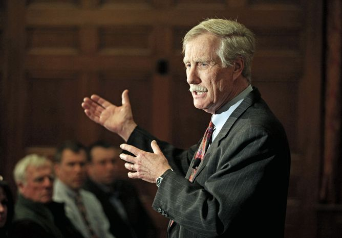 ** FILE ** Sen. Angus S. King Jr., Maine independent. (Associated Press)