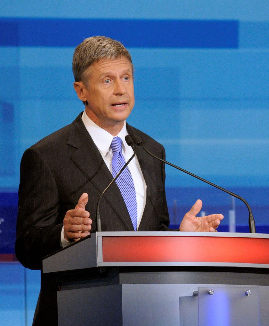 Former New Mexico Gov. Gary Johnson got invitations to participate in two of the debates for Republican presidential candidates. (Associated Press)