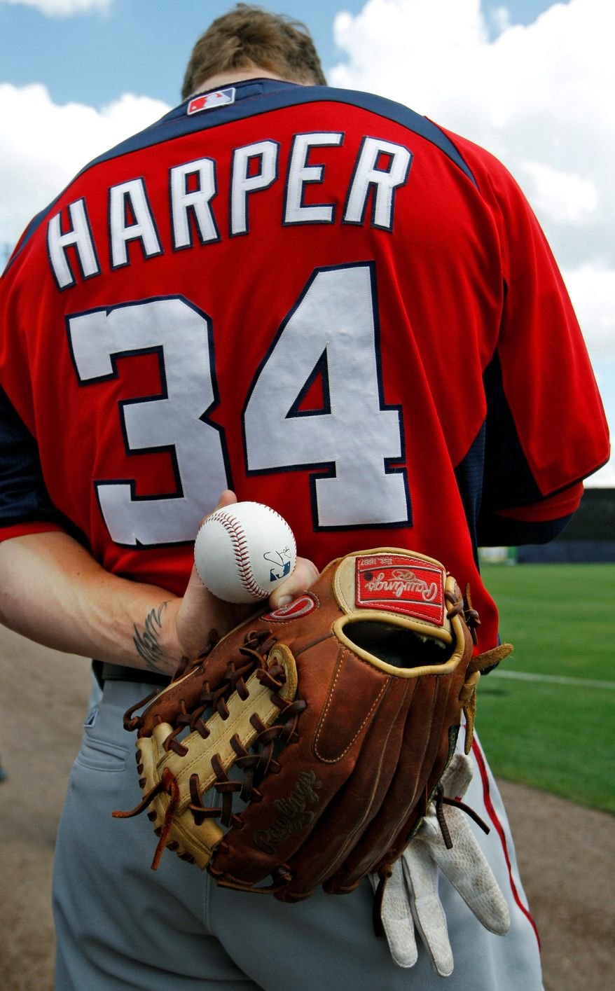 """I'm a guy that wants to play every single day and get better,"" outfielder Bryce Harper said of starting the season at Triple-A Syracuse. (Associated Press)"
