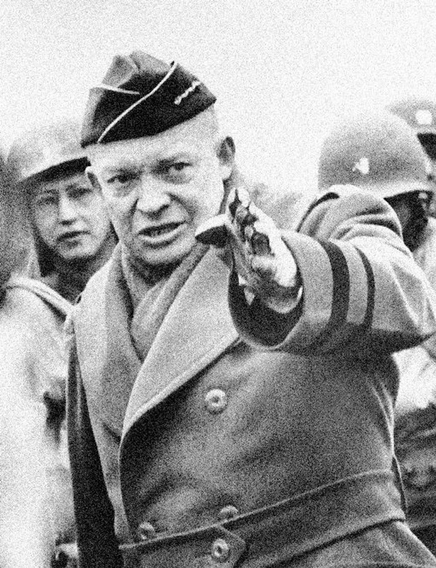 "Gen. Dwight D. Eisenhower, leader of Allied forces in World War II, was one of the few ""political outsiders"" who made it to the White House. (Associated Press)"