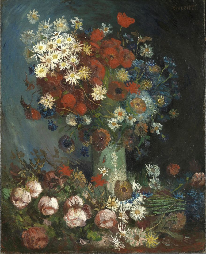 """New X-ray research has shown that """"Still Life With Meadow Flowers and Roses"""" really is by Vincent van Gogh. (Associated Press)"""