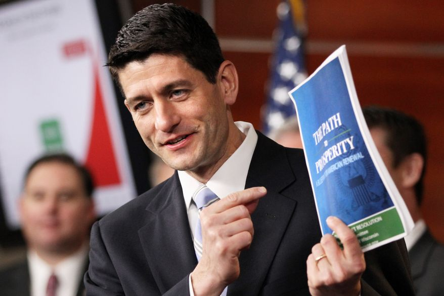 ** FILE ** Rep. Paul Ryan, Wisconsin Republican, introduces a plan on Tuesday, March 20, 2012, to overhaul Medicare. The proposal would have the federal program competing with private plans. (AP Photo/Jacquelyn Martin)