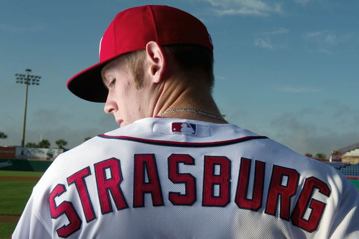 Just 19 months removed from Tommy John surgery, Nationals pitcher Stephen Strasburg was named the team's Opening Day starter. (Andrew Harnik/The Washington Times)