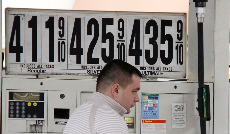 In this March 2, 2012, photo, a New York City taxi driver pumps gas at a BP mini-mart, in New York. Experts say pump prices are rising on the expectation that supplies will dip next month while refineries switch from winter to summer gasoline blends. Forecasts see gas rising as high as $4.25 per gallon in late April. (AP Photo/Gene J. Puskar)