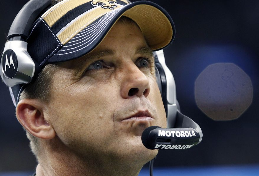 ** FILE ** This Dec. 26, 2011 file photo shows New Orleans Saints head coach Sean Payton during an NFL game against the Atlanta Falcons. The NFL has suspended Payton for the 2012 season, and former Saints defensive coordinator Gregg Williams is banned from the league indefinitely because of the team's bounty program that targeted opposing players. (AP Photo/Rusty Costanza, File)