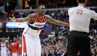 Andray Blatche still is owed $23 million by the Wizards on his $35 million contract extension signed in 2010. However, the money doesn't count against the salary cap. Blatche's departure after seven seasons with the Wizards is another step Washington has made toward establishing a team with a mature presence. (Associated Press)