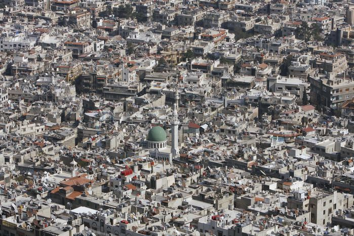 A general view of Damascus, Syria, is seen on March 22, 2012. Mounting international condemnation of Bashar Assad's regime and high-level diplomacy have failed to ease the year-old Syria conflict, which the U.N. says has killed more than 8,000 people. (Associated Press)
