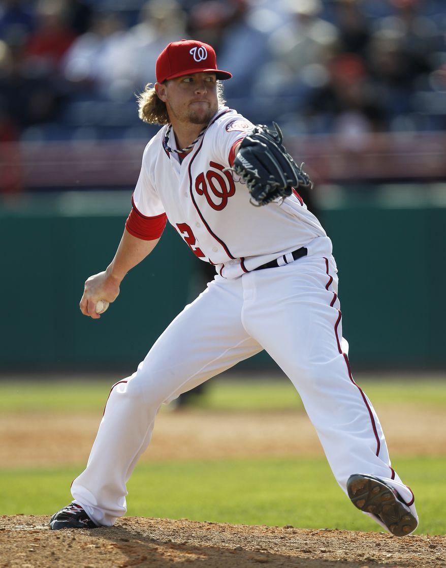 Washington Nationals pitcher Drew Storen may not be ready to close when the season kicks off. (AP Photo/Julio Cortez)