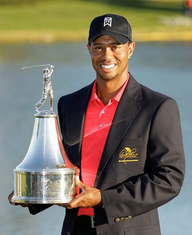 Tiger Woods' victory in the Arnold Palmer Invitational on Sunday was his 72nd PGA Tour win. (Associated Press)