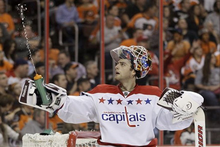 Braden Holtby is 2-0-1 with a 1.29 goals-against average and .955 save percentage since being recalled March 19. (Associated Press)