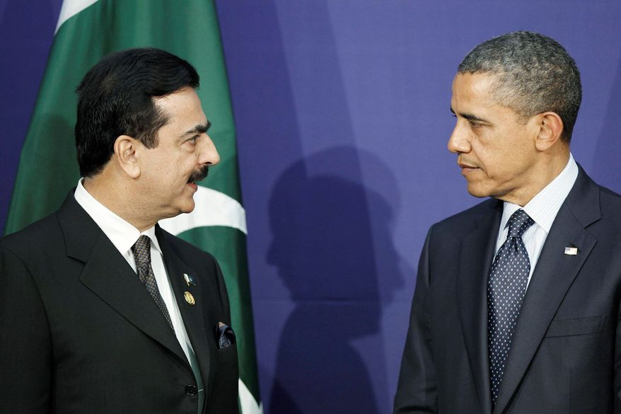 Pakistani Prime Minister Yousuf Raza Gilani and President Obama meet Tuesday on the last day  of the Nuclear Security Summit in Seoul. (Associated Press)